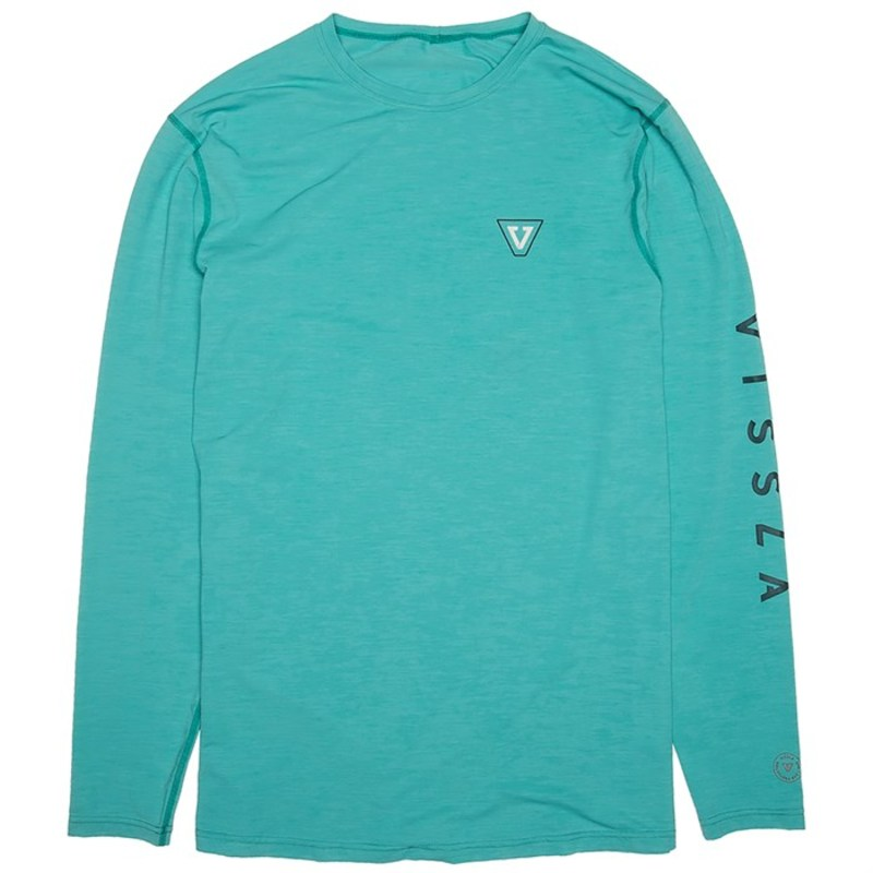 ヴィスラ メンズ トップのみ 水着 Vissla All Time Long Sleeve Surf Shirt Jade Heather