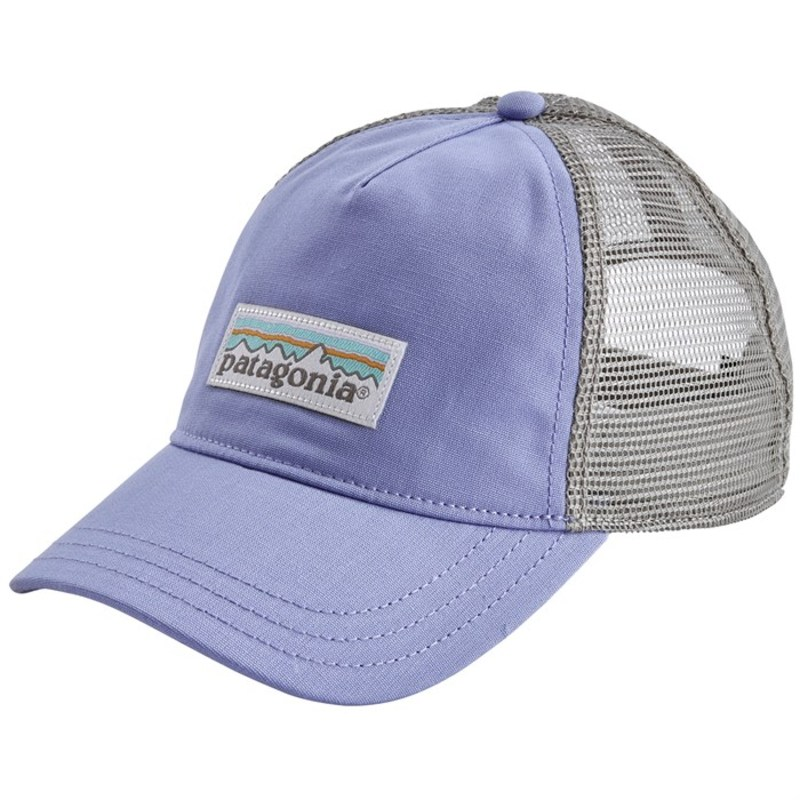 5300d582e Patagonia Lady's hat accessories Patagonia Pastel P6 Label Layback Trucker  Hat - Women's Light Violet Blue