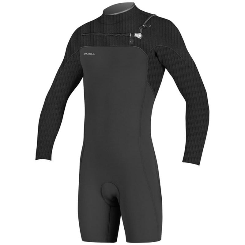オニール メンズ 上下セット 水着 O'Neill 2mm Hyperfreak Chest Zip Long Sleeve Spring Suit Black