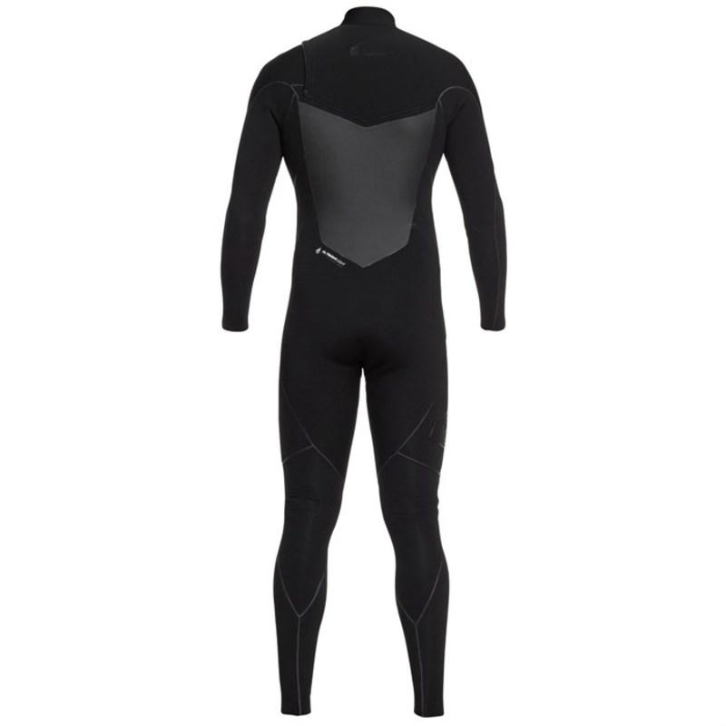 クイックシルバー メンズ 上下セット 水着 Quiksilver 4/3 Highline+ Chest Zip Wetsuit Black