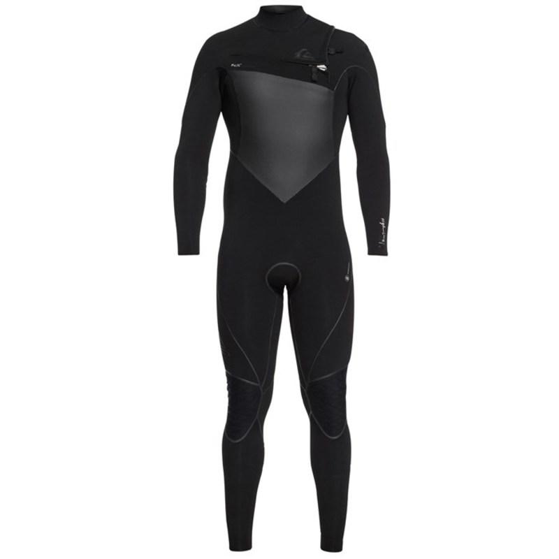 クイックシルバー メンズ 上下セット 水着 Quiksilver 3/2 Highline+ Chest Zip Wetsuit Black