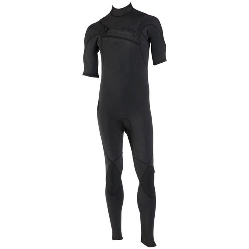 クイックシルバー メンズ 上下セット 水着 Quiksilver 2/2 Highline Ltd Short Sleeve Chest Zip Fullsuit Black