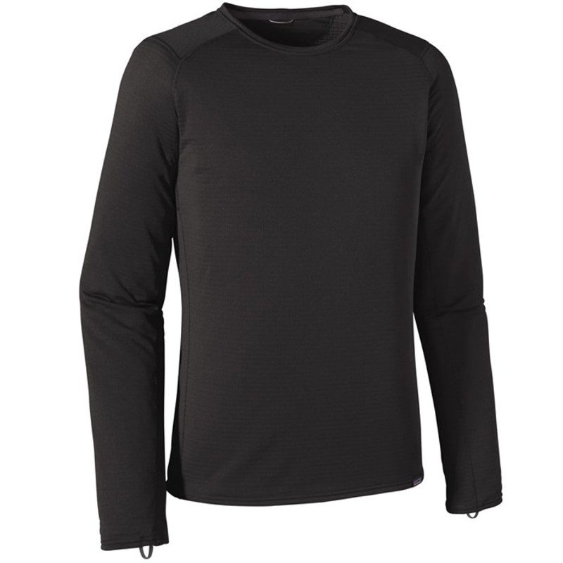 パタゴニア メンズ Tシャツ トップス Patagonia Capilene? Thermal Weight Crew Top Black