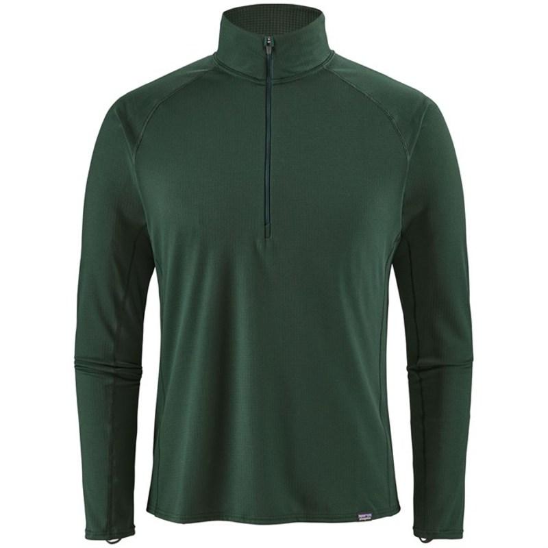 パタゴニア メンズ Tシャツ トップス Patagonia Capilene? Midweight Zip-Neck Top Micro Green