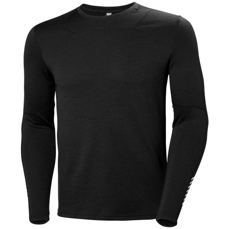 ヘリーハンセン メンズ Tシャツ トップス Helly Hansen Lifa Merino Crew Black