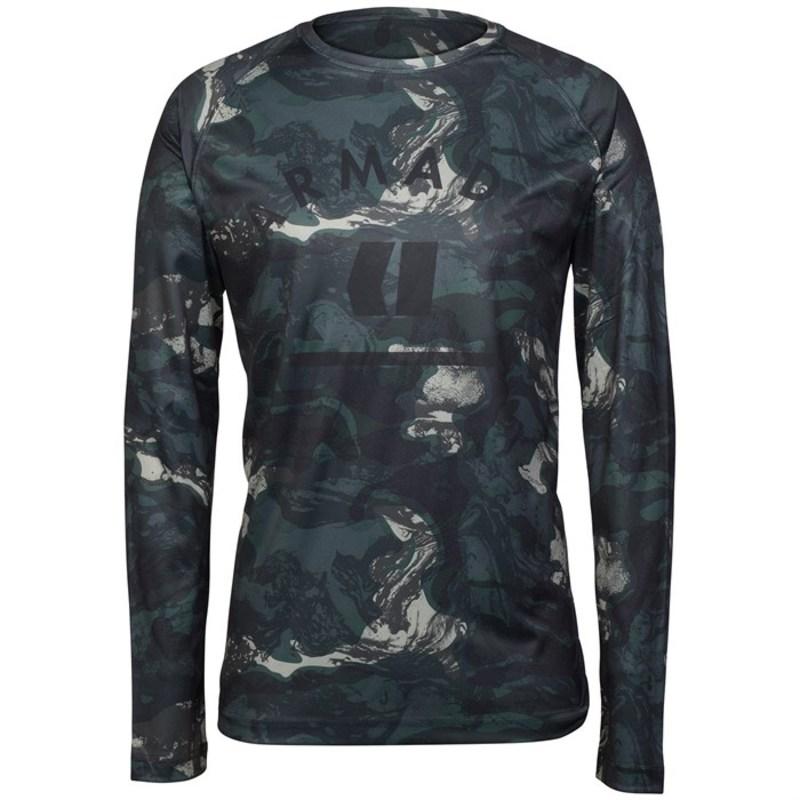 アルマダ メンズ Tシャツ トップス Armada Contra Crew L/S Baselayer Top Sediment