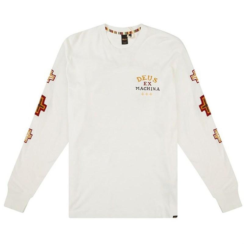 デウス エクス マキナ メンズ Tシャツ トップス Deus Ex Machina Bonita Long-Sleeve T-Shirt Vintage White