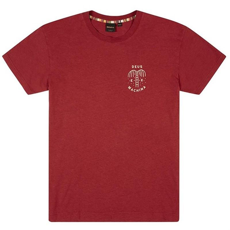 デウス エクス マキナ メンズ Tシャツ トップス Deus Ex Machina Mirage T-Shirt Chilli Red