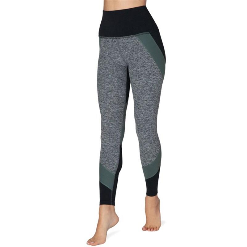 ビヨンドヨガ レディース レギンス ボトムス Beyond Yoga Colorblocked High Waisted Long Leggings - Women's Black Triple Block