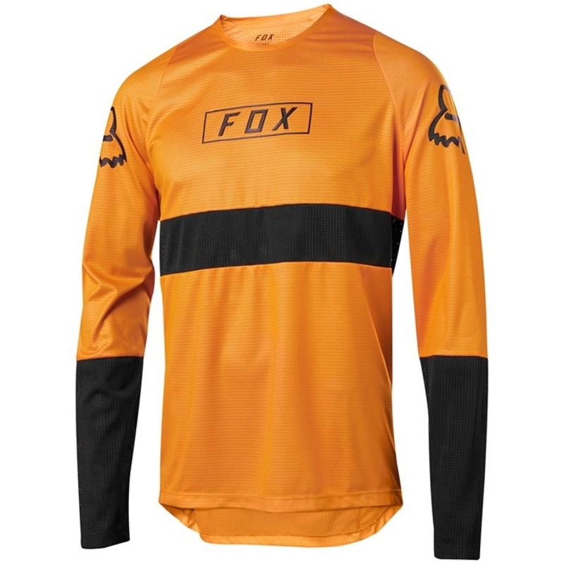 フォックス メンズ Tシャツ トップス Fox Defend LS Jersey Atomic Orange