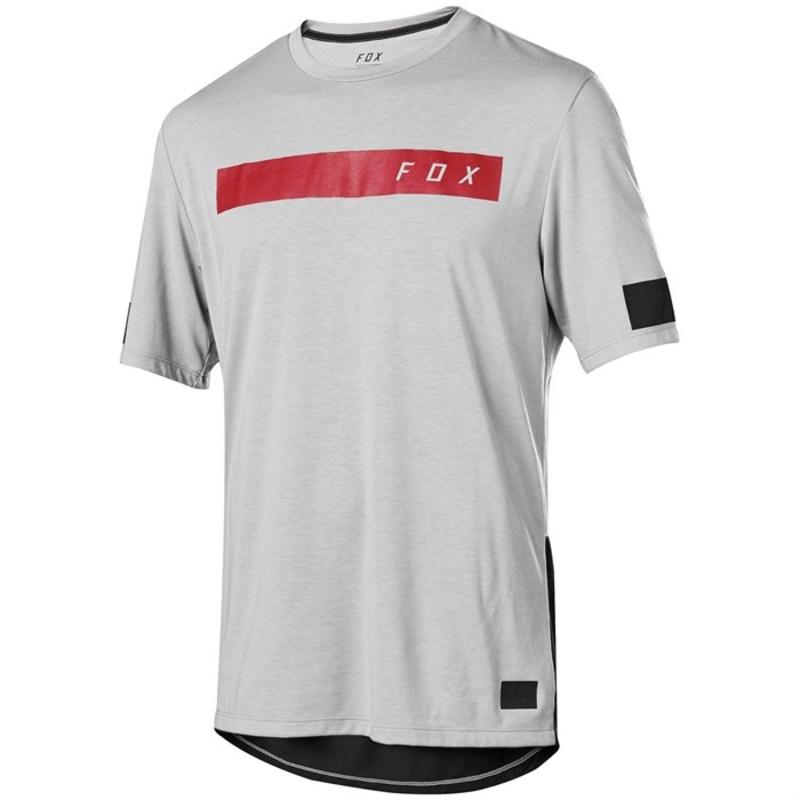 フォックス メンズ Tシャツ トップス Fox Ranger Drirelease? SS Bar Jersey Steel Grey