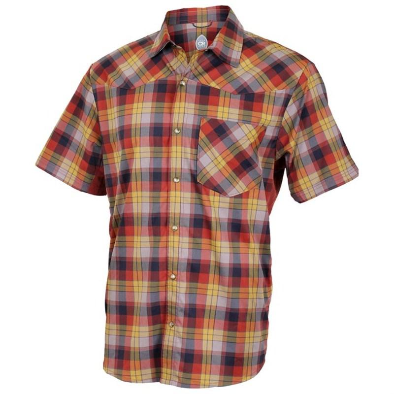 クラブライド メンズ Tシャツ トップス Club Ride New West Short Sleeve Snap Down Jersey Rust