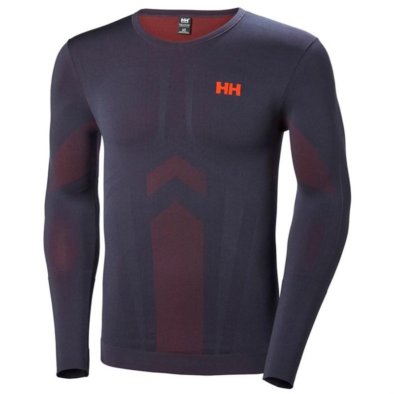 ヘリーハンセン メンズ Tシャツ トップス Helly Hansen Lifa Seamless Crew Top Graphite Blue