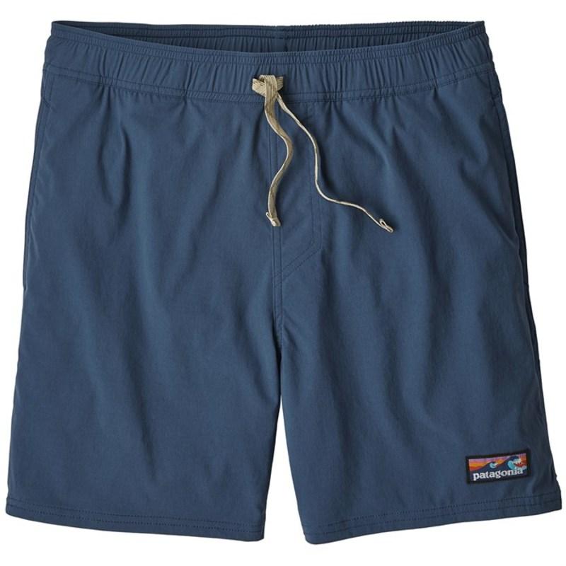 パタゴニア メンズ ハーフパンツ・ショーツ 水着 Patagonia Stretch Wavefarer Volley Shorts Stone Blue