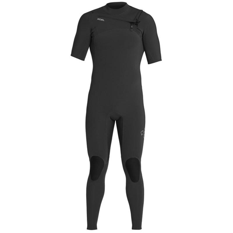 エクセル メンズ 上下セット 水着 XCEL Comp X 2mm Short Sleeve Fullsuit Black