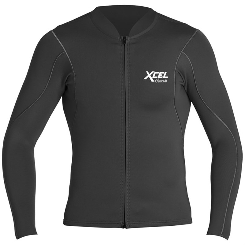 エクセル メンズ 上下セット 水着 XCEL Axis 1/.5 Long Sleeve Front Zip Jacket Black