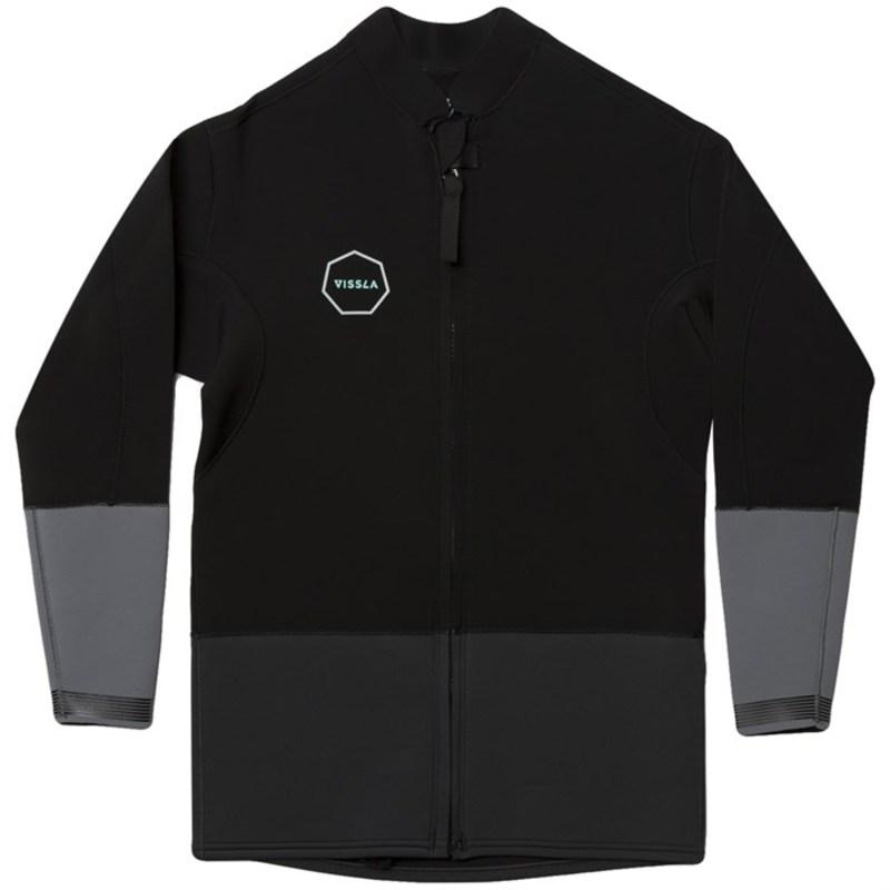 ヴィスラ メンズ 上下セット 水着 Vissla 2mm The Trip Front Zip Wetsuit Jacket Black Heather