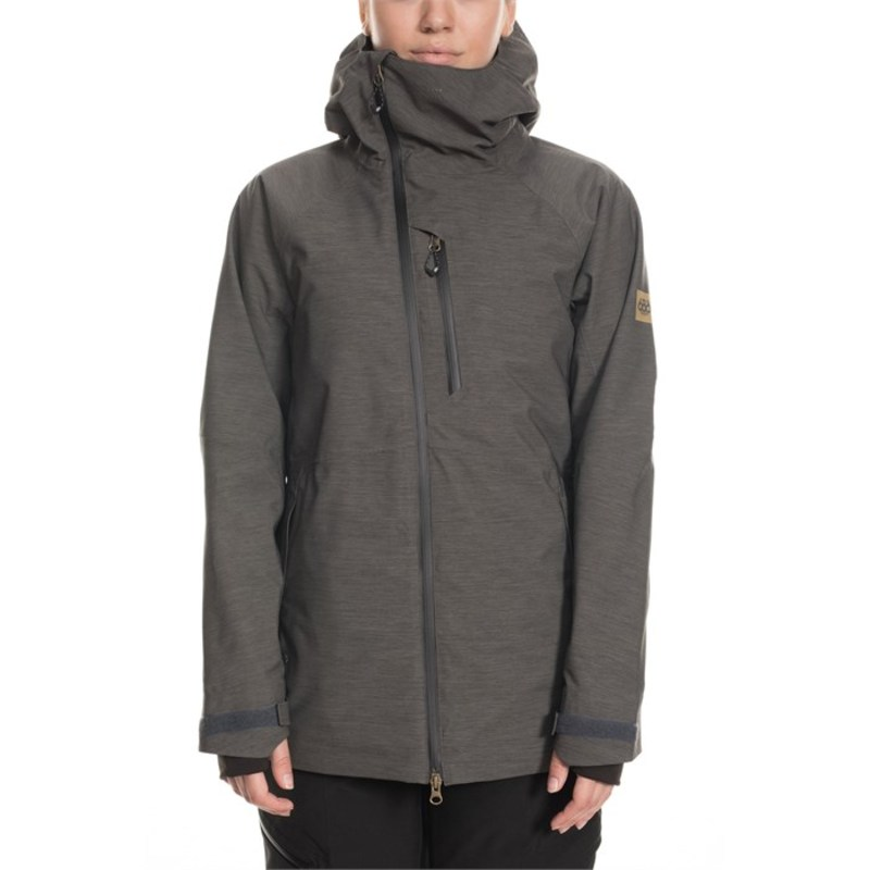 シックスエイトシックス レディース ジャケット・ブルゾン アウター 686 GLCR Hydra Insulated Jacket - Women's Charcoal Heather