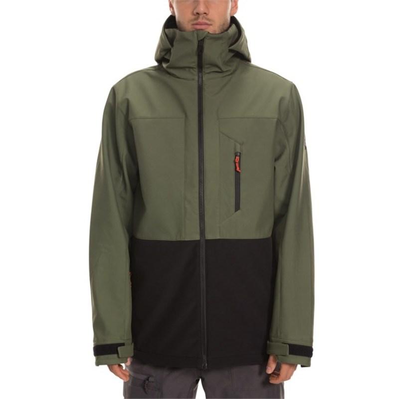 シックスエイトシックス メンズ ジャケット・ブルゾン アウター 686 SMARTY Phase 3-in-1 Softshell Jacket Surplus Green Colorblock