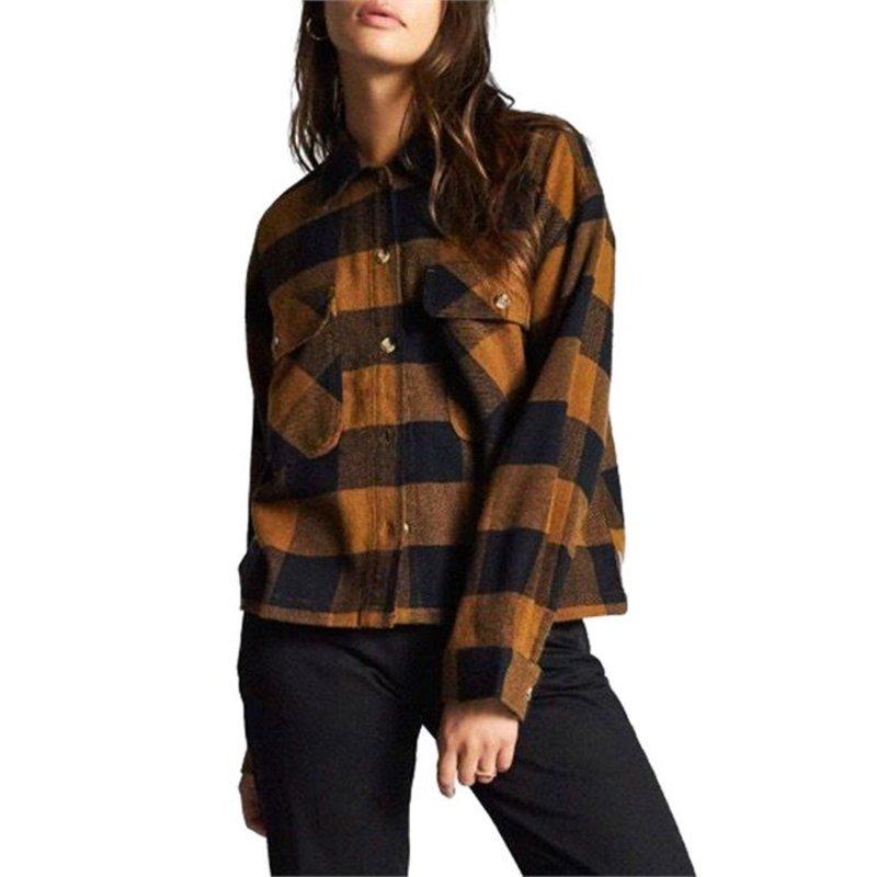 ブリクストン レディース シャツ トップス Brixton Astoria Flannel Overshirt - Women's Washed Copper