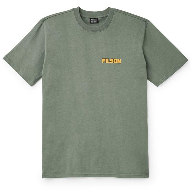 送料無料 サイズ交換無料 フィルソン メンズ 正規逆輸入品 トップス Tシャツ T-Shirt 奉呈 Green Filson Service Outfitter