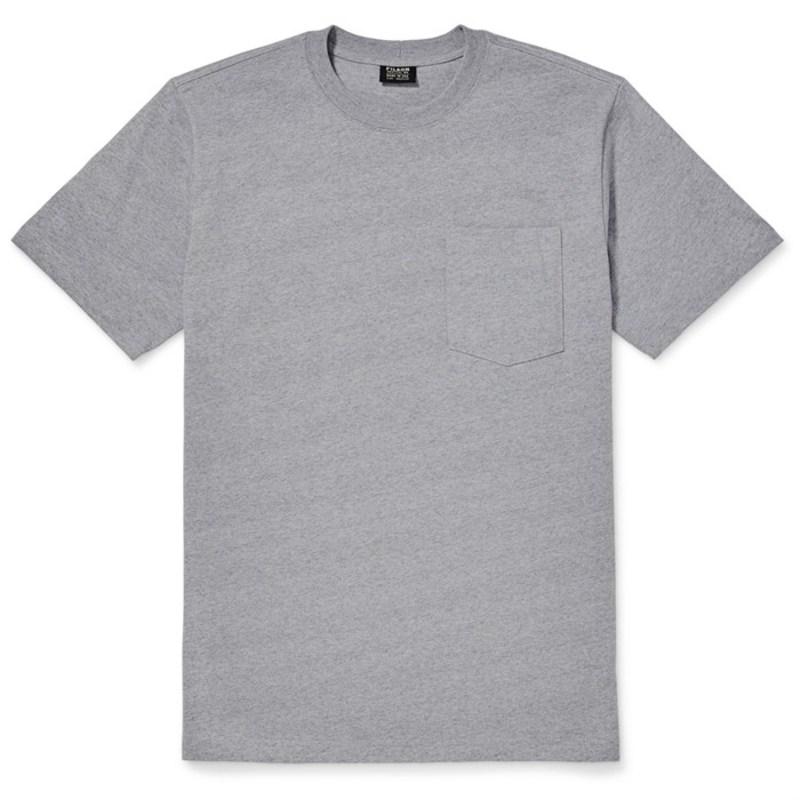 送料無料 サイズ交換無料 フィルソン メンズ トップス Tシャツ T-Shirt Filson ギフト Outfitter Heather Front-Pocket Grey 当店は最高な サービスを提供します