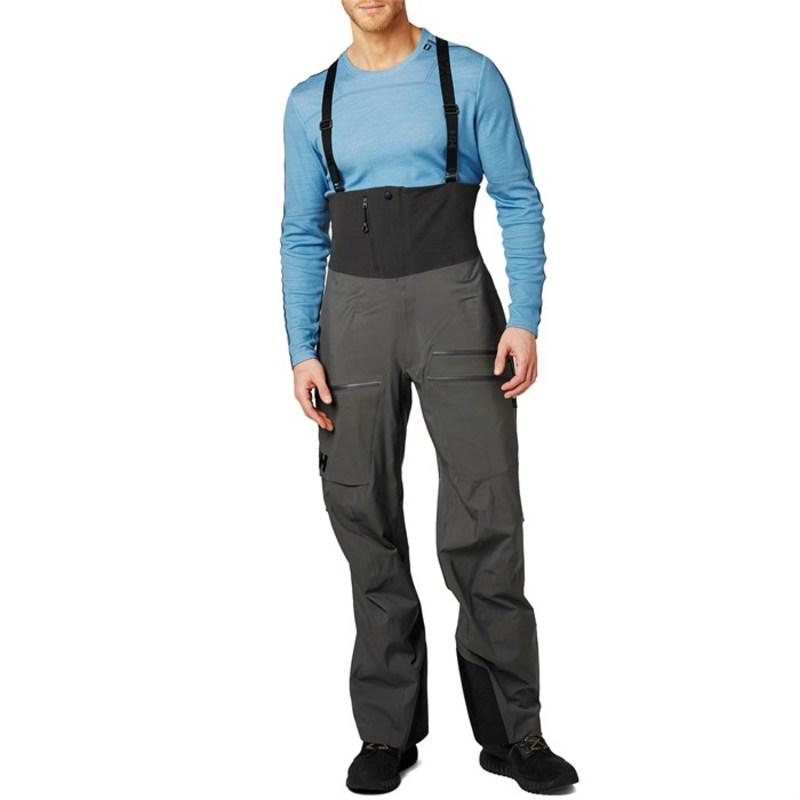 ヘリーハンセン メンズ カジュアルパンツ ボトムス Helly Hansen Odin Mountain 3L Shell Bib Pants Charcoal