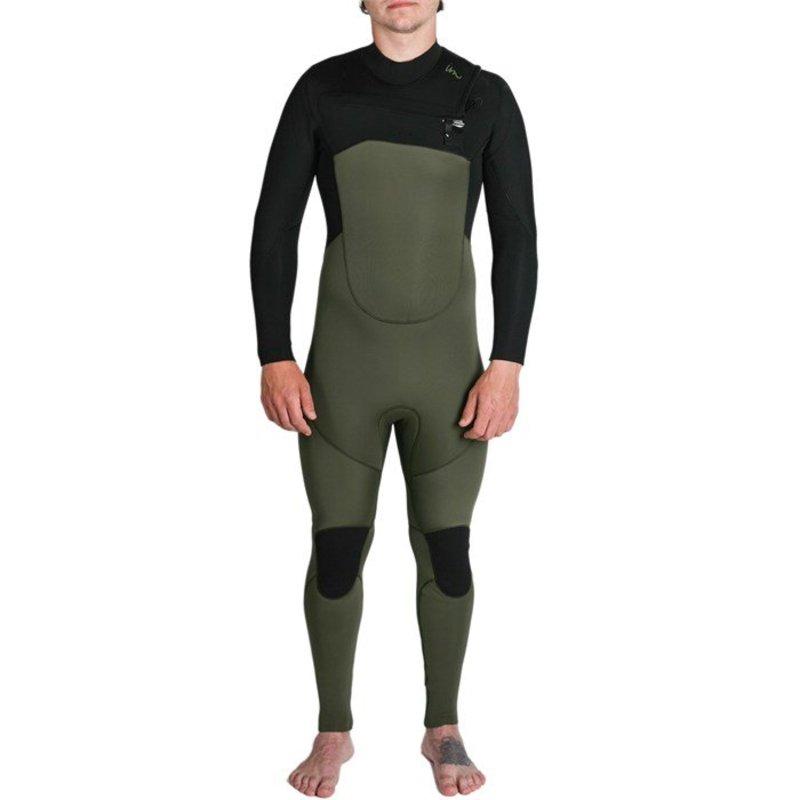 インペリアルモーション メンズ 上下セット 水着 Imperial Motion 4/3 Lux Premier Chest Zip Wetsuit Army Green