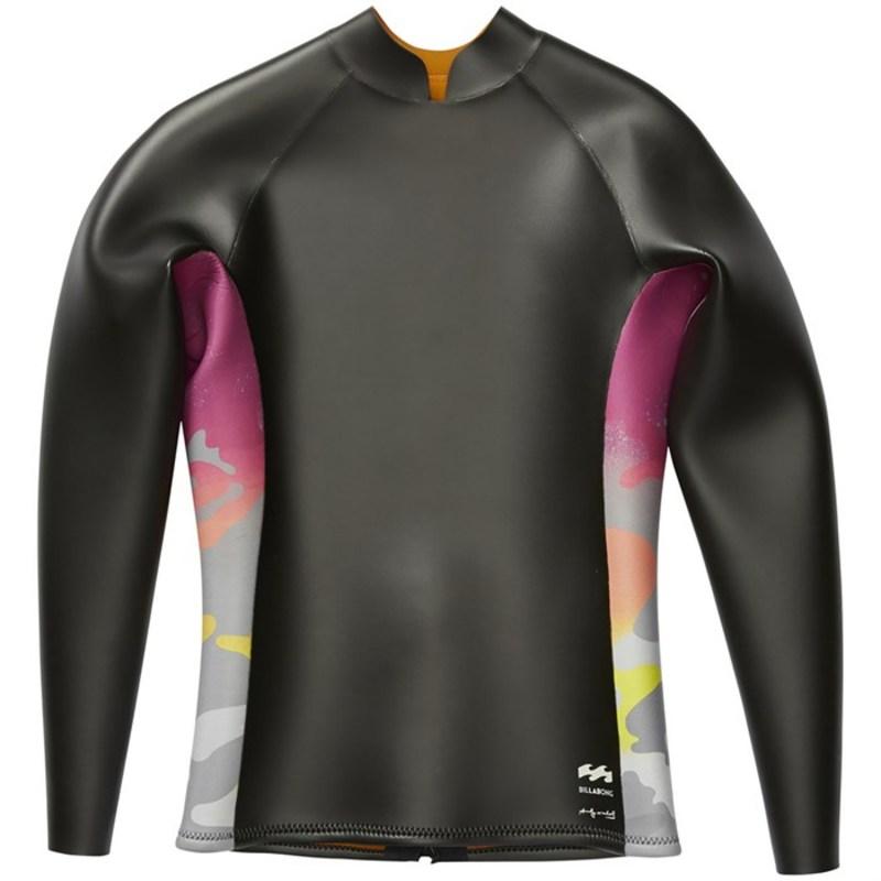 ビラボン メンズ トップのみ 水着 Warhol Glideskin Long Sleeve Wetsuit Jacket Black