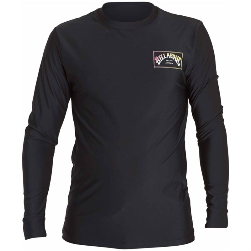 ビラボン メンズ トップのみ 水着 Box Arch Loose Fit Long-Sleeve Rashguard Black