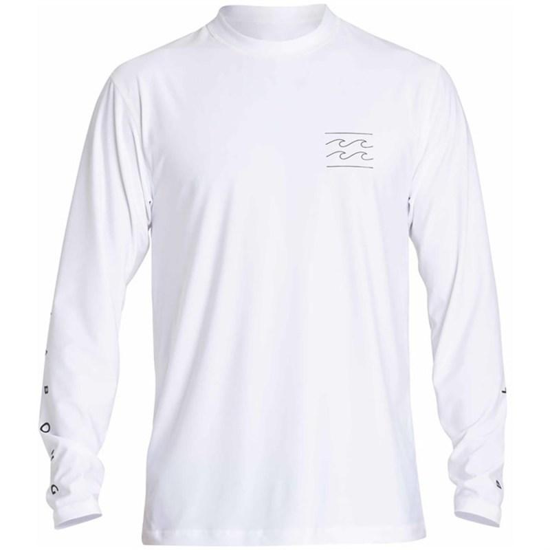 ビラボン メンズ トップのみ 水着 Unity Long Sleeve Surf Shirt White