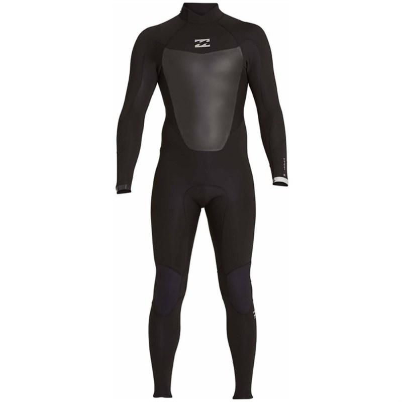 ビラボン メンズ 上下セット 水着 3/2 Absolute GBS Comp Back Zip Wetsuit Black