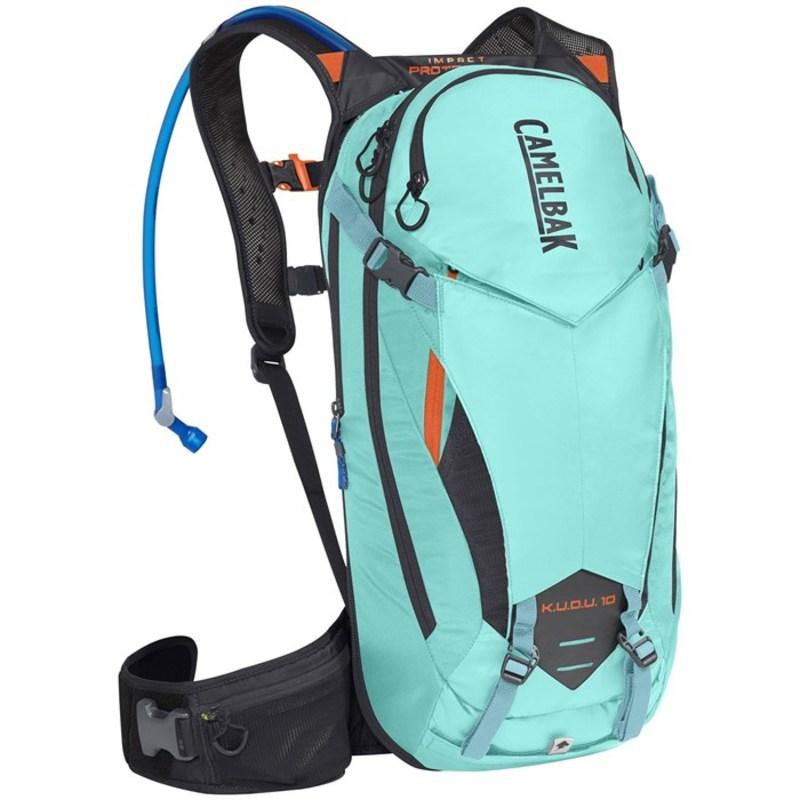 ケイムルバック メンズ バックパック・リュックサック バッグ K.U.D.U. Protector 10 Hydration Pack Lake Blue/Laser Orange
