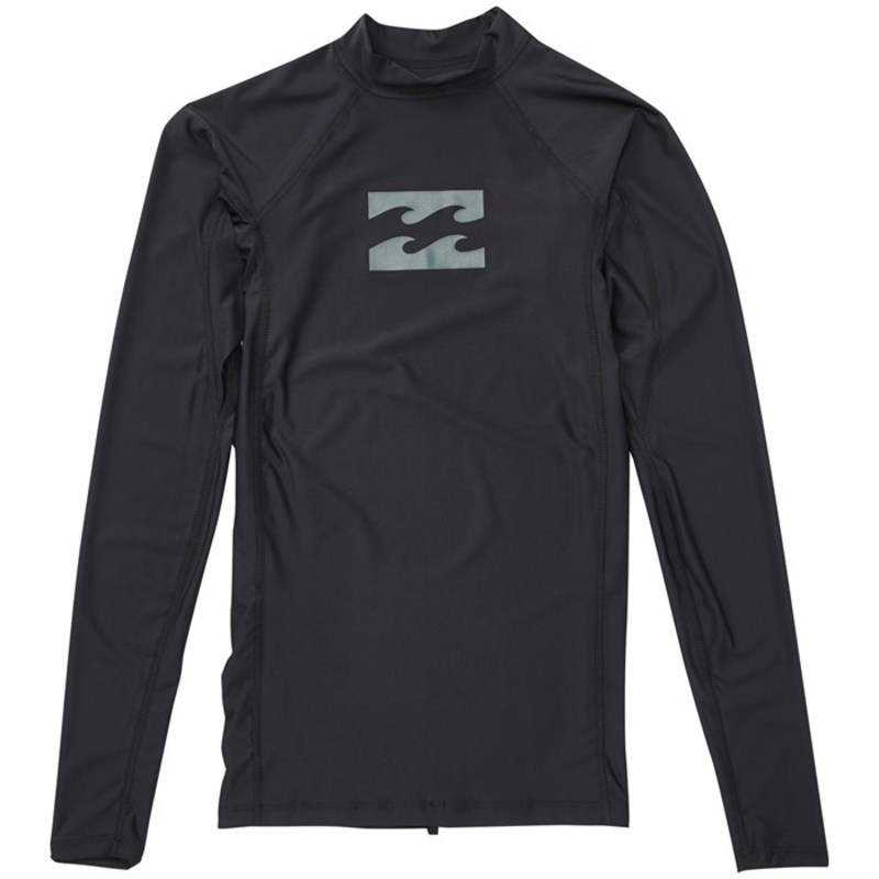 ビラボン メンズ トップのみ 水着 All Day Wave Performance Long Sleeve Rashguard Black Charcoal