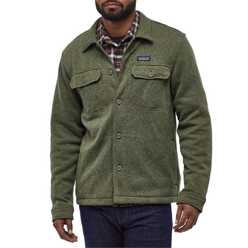 パタゴニア メンズ シャツ トップス Patagonia Better SweaterR Shirt Jacket Industrial Green