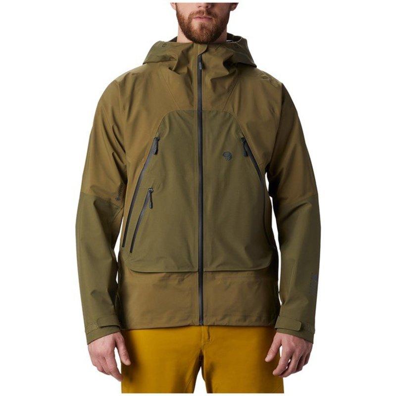 マウンテンハードウェア メンズ ジャケット・ブルゾン アウター Mountain Hardwear High Exposure GORE-TEX C-Knit Jacket Combat Green
