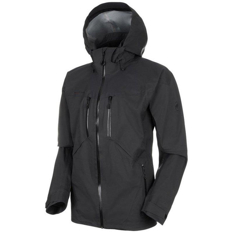 送料無料 サイズ交換無料 マムート メンズ アウター 実物 ジャケット 無料サンプルOK HS Black ブルゾン Mammut Stoney Jacket