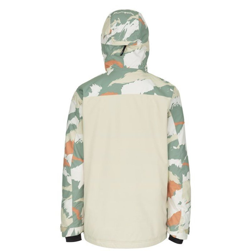 オニール メンズ ジャケット・ブルゾン アウター O'Neill Textured Jacket Beige AOPrWCxodeQB