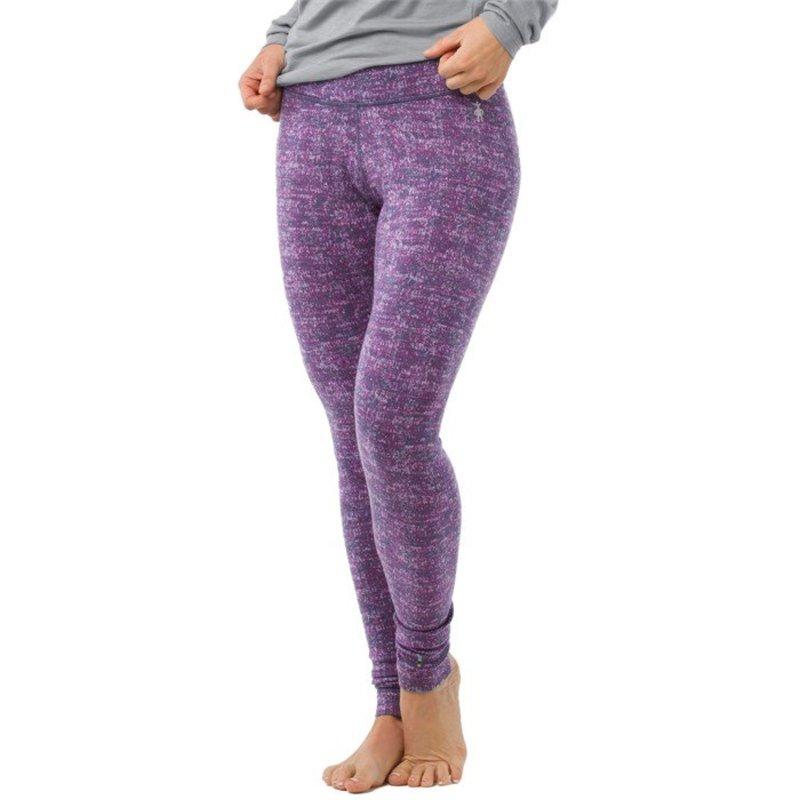 スマートウール レディース カジュアルパンツ ボトムス Smartwool Merino 250 Baselayer Pattern Pants - Women's Dark Blue Steel