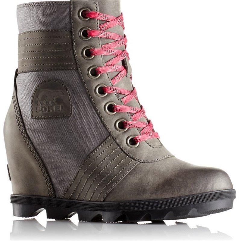 ソレル レディース ブーツ・レインブーツ シューズ Sorel Lexie Wedge Boots - Women's Quarry