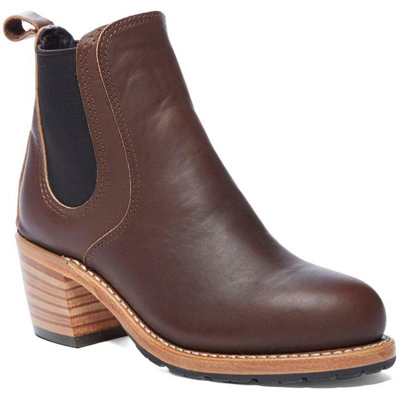 レッドウィング レディース ブーツ・レインブーツ シューズ Red Wing Harriet Boots - Women's Mahogany Oro-iginal Leather