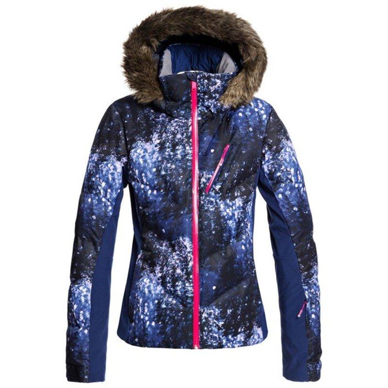 ロキシー レディース ジャケット・ブルゾン アウター Roxy Snowstorm Plus Jacket - Women's Medieval Blue Sparkles