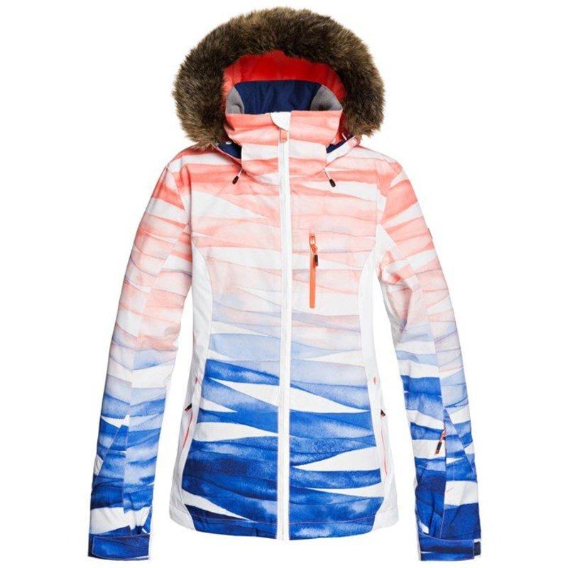 ロキシー レディース ジャケット・ブルゾン アウター Roxy Jet Ski Premium Jacket - Women's Mid Denim Yumi Yamada Print