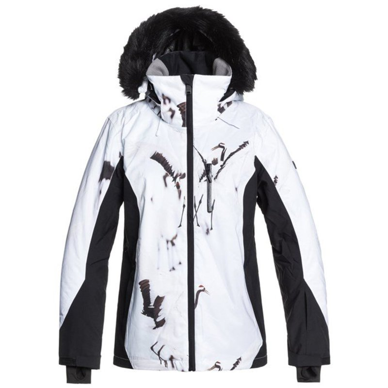 ロキシー レディース ジャケット・ブルゾン アウター Roxy Jet Ski Premium Jacket - Women's True Black White Birds