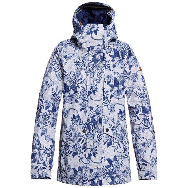 ロキシー レディース ジャケット・ブルゾン アウター Roxy GORE-TEX 2L Glade Printed Jacket - Women's Heather Grey Botanical Flowers
