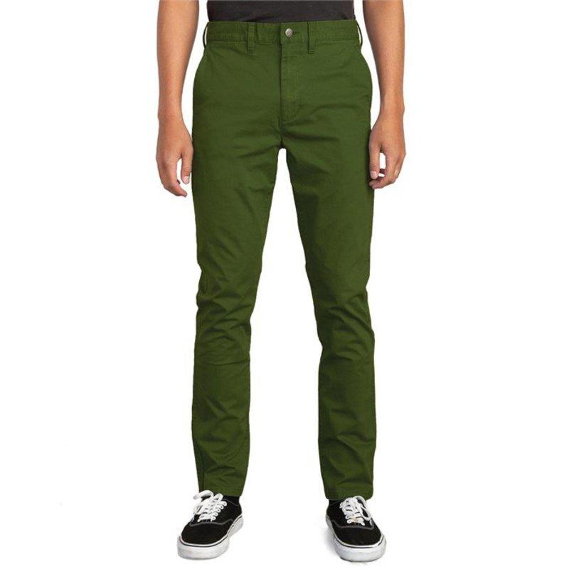 ルーカ メンズ カジュアルパンツ ボトムス RVCA Daggers Slim-Straight Chino Pants Cadet Green