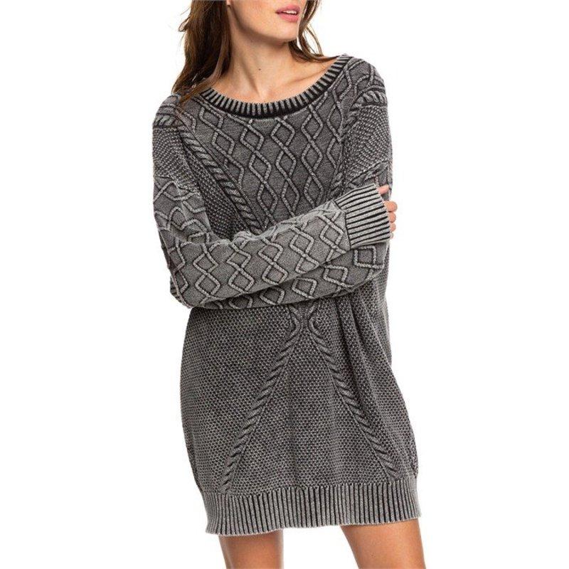 ロキシー レディース ワンピース トップス Roxy Snow Day Sweater Dress - Women's Anthracite