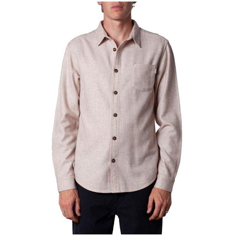 リズム メンズ シャツ トップス Rhythm Wool Long-Sleeve Shirt Ivory