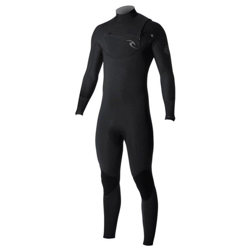 リップカール メンズ 上下セット 水着 Rip Curl 3/2 Dawn Patrol Chest Zip Wetsuit Black