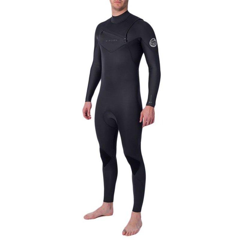 リップカール メンズ 上下セット 水着 Rip Curl 4/3 Dawn Patrol Performance Chest Zip Wetsuit Charcoal
